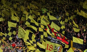 The wind is good news for Watford's supporters and their banners.