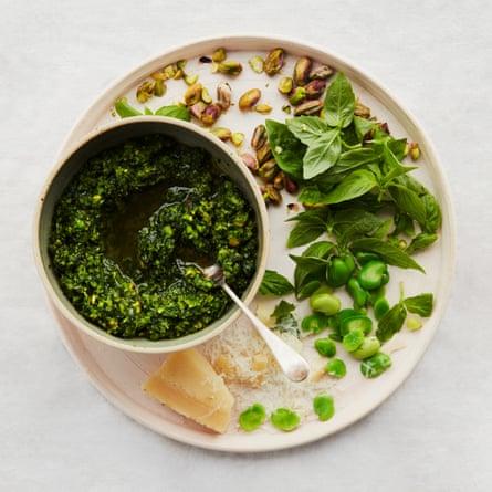 The spring sauce: Anna Jones's broad bean and pistachio pesto.