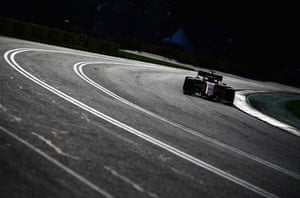 Charles Leclerc took his Ferrari to fifth.