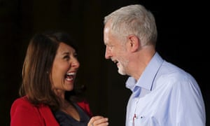 Liz Kendall and Jeremy Corbyn