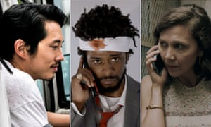 Steven Yeun in Burning, Lakeith Stanfield in Sorry to Bother You and Maggie Gyllenhaal in The Kindergarten Teacher.