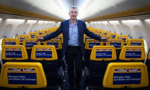 The Ryanair chief executive, Michael O'Leary