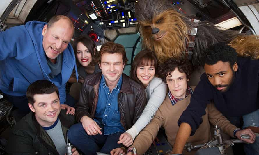 Star struck: Woody with the cast of Solo: A Star Wars Story.
