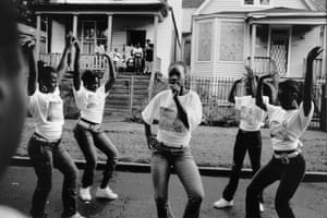 Girls Dancing, Englewod, Chicago, 2008. From the We All We Got project by Carlos Javier Ortiz.