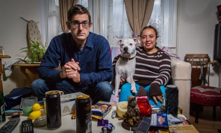 Cycle of despair … Louis Theroux with Aurelie in BBC2's Drinking to Oblivion.