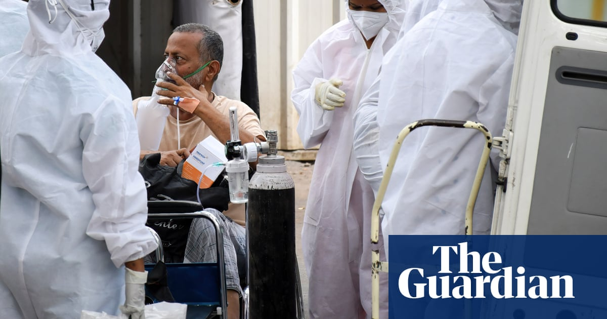 India: tearful relatives beg for oxygen and hospital beds for Covid patients – video