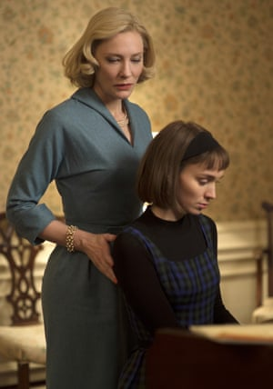 Cate Blanchett as Carol and Rooney Mara as Therese in Carol