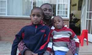 Salom Tsoka with his two children