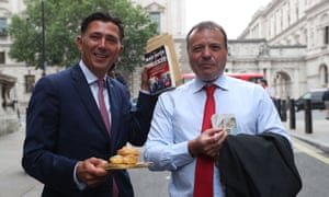 Arron Banks, right and Andy Wigmore
