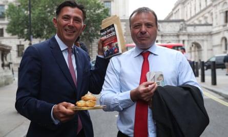 Brexit campaign donor Arron Banks, right, and Leave.EU campaigner Andy Wigmore