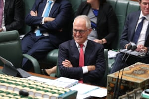 Prime Minister Malcolm Turnbull during question time