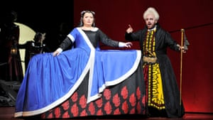 Albina Shagimuratova as Aspasia and Michael Spyres as Mitridate.
