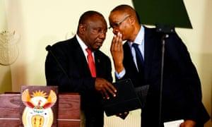 Cyril Ramaphosa and adviser