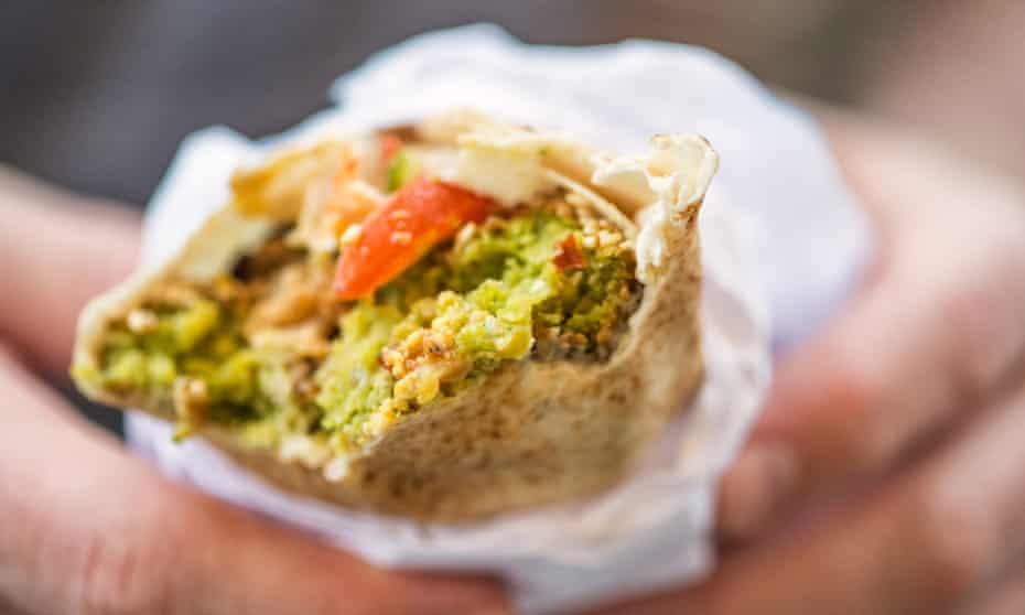 The falafel wrap.
