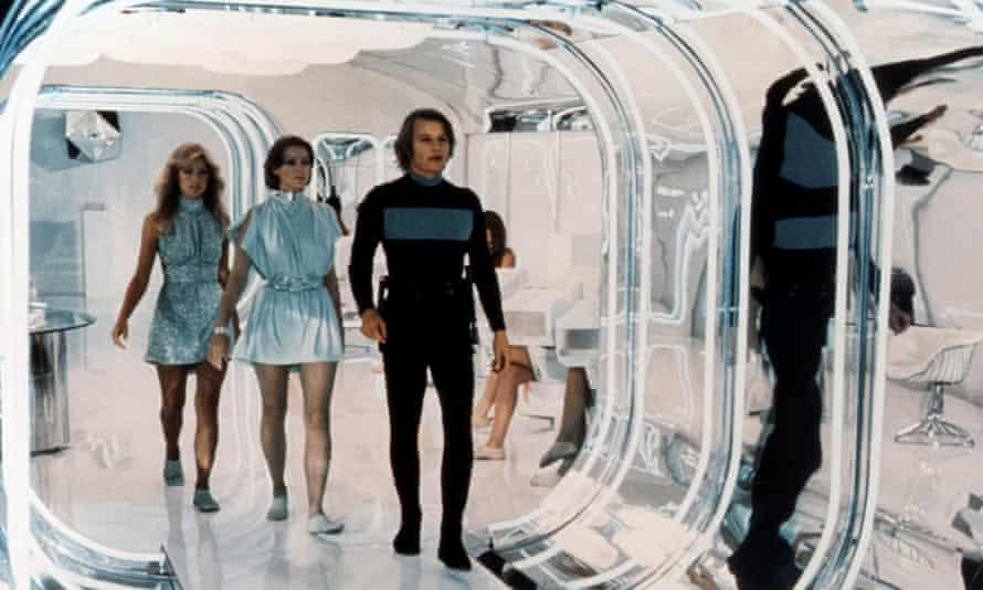 Logan's Run: from left, Farrah Fawcett, Jenny Agutter and Michael York