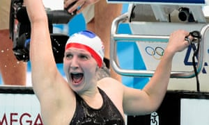 Different strokes: Britain's Rebecca Adlington reacts as she wins the gold medal in the final of the women's 800m freestyle in Beijing, 2008.