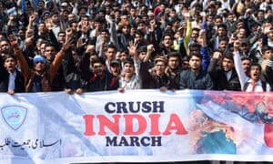 Pakistani students take part in an anti-India protest rally in Lahore last week.
