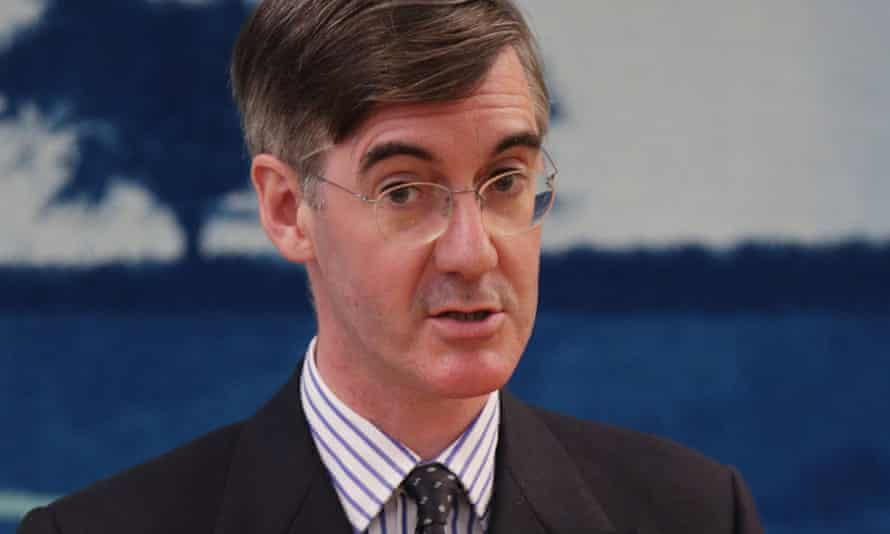 Jacob Rees-Mogg backed an economists' report that was also tweeted by the trade department.