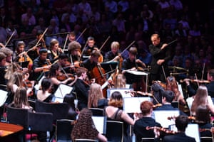 Mark Wigglesworth with the National Youth Orchestra of Great Britain.