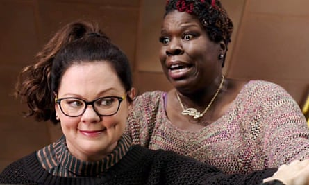Melissa McCarthy and Leslie Jones in the Ghostbusters trailer.