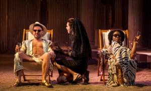 Contrary and cantankerous … Richard Conlon, Melody Grove and Emanuella Cole in The Iliad.