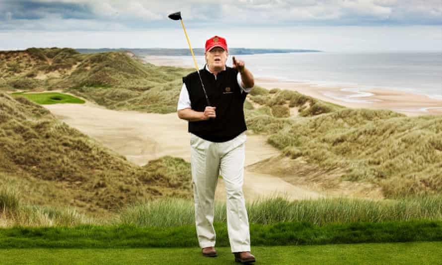Trump at his golf course in Balmedie in 2011.