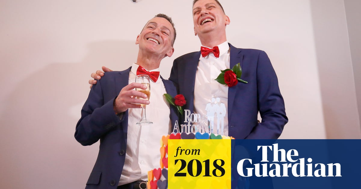 Australian same-sex couple marry after 30 years together