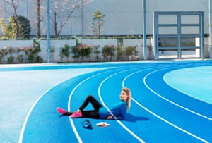 Runner on a sports track