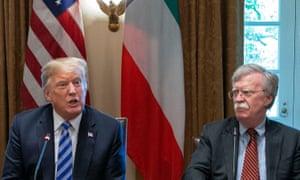 Donald Trump and John Bolton.