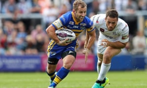 Rob Burrow, with the ball, in 2016, has been given encouraging news by a professor in Sheffield.