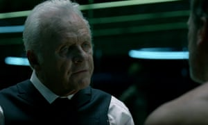 Unwieldy questions about meeting your maker … Anthony Hopkins in Westworld.