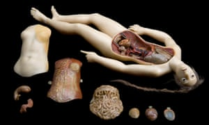 Wax anatomical figure of reclining woman used between 1771-1800.