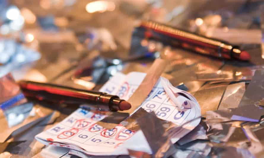 Close up image of bingo marker pens and discarded bingo cards, promoting Rebel Bingo club night.