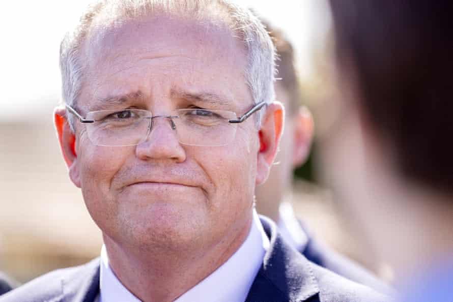Prime minister Scott Morrison speaks to the media during a doorstop at Leawarra Railway Station, in Frankston, Melbourne, September 7 2018.