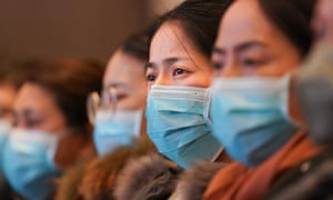 Medical workers from Shanghai attend a medical training in Wuhan, central China's Hubei Province
