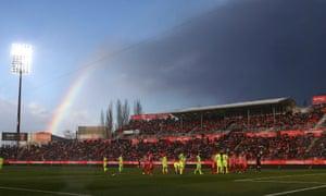 Girona's Montilivi Stadium.