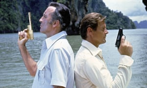 Christopher Lee and Roger Moore in The Man with the Golden Gun, 1974