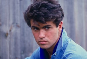 George Michael of Wham at his family home in London in the early 1980s.