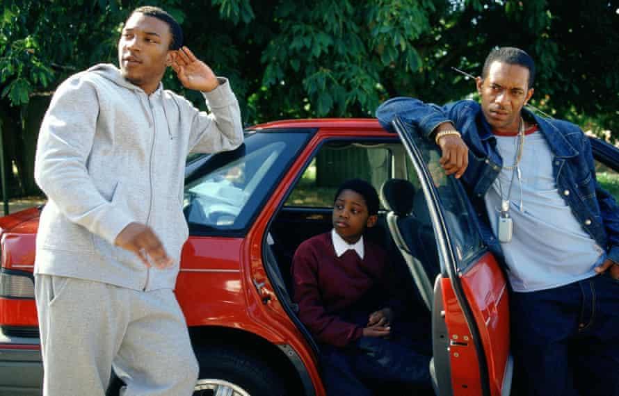 Actors ASHLEY WALTERS, LUKE FRASER and LEON BLACK  in the 2004 film BULLET BOY