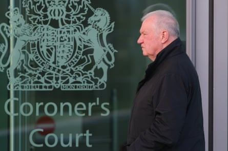 David Duckenfield arriving to give evidence at the Hillsborough inquest in 2015.