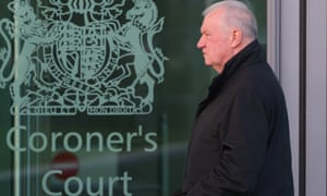David Duckenfield arrives to give evidence at the Hillsborough inquest in March 2015.