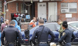 Police in Paterson, New Jersey, on Wednesday.