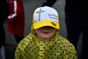 A girl Pope baseball cap Ireland