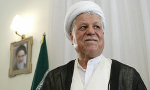 Ali Akbar Hashemi Rafsanjani in Tehran in 2005. Although after the Iran-Iraq war he sought closer ties with the west, he refused to lift the fatwa against the writer Salman Rushdie.