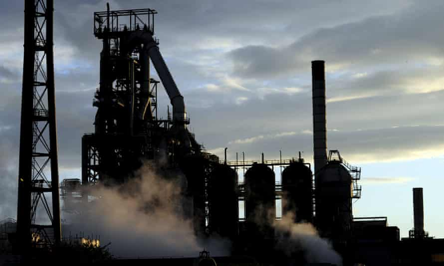 The blast furnaces of the Tata Steel plant in Port Talbot.