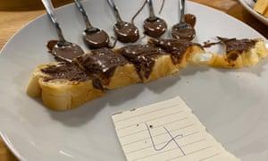 A blind taste testing station for Guardian Australia's hazelnut spread taste test