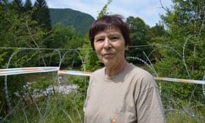 Zdenka Štucin, a judge from Ljubljana who opposes the fence