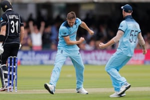 Guptill fell in the sixth over, with New Zealand on just 29 runs. Chris Woakes had eventually got him lbw