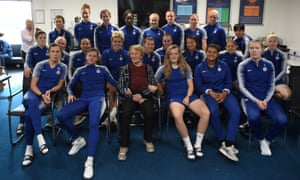 Chelsea's squad with Susan Pollock