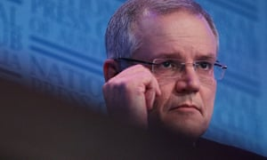 Scott Morrison delivers his post-budget address at the National Press Club